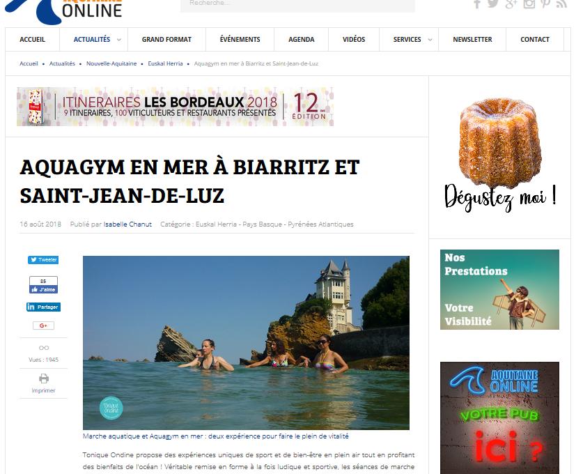 elsa dabet randonnée aquatique biarritz